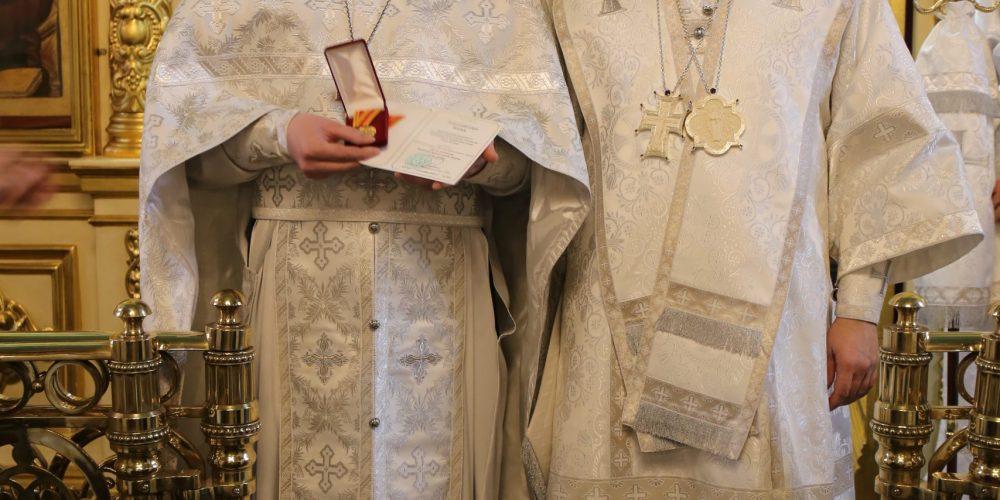 Архиепископ Егорьевский Матфей вручил Патриаршие награды духовенству и работникам храмов Юго-Восточного и Северо-Восточного викариатств