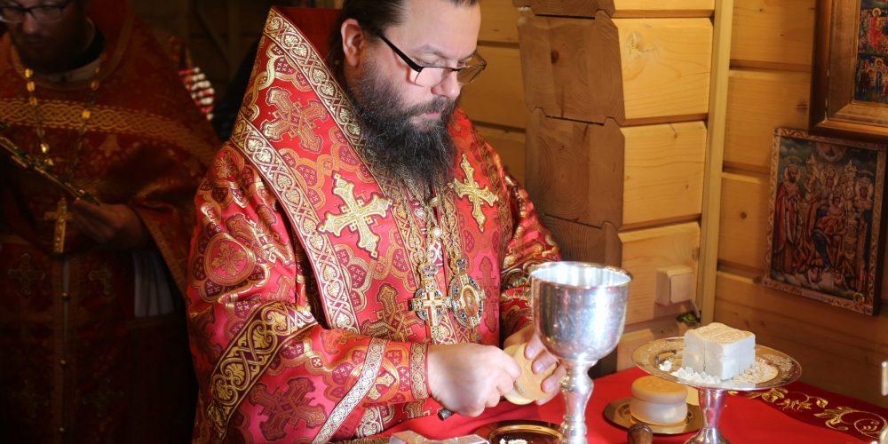 Архиерейское богослужение в храме святого праведного Симеона Верхотурского в Марьине в день престольного праздника