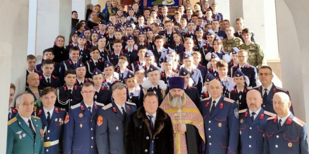 Учащиеся кадетского казачьего класса дали торжественное обещание, чтобы получить право носить звание казака-кадета