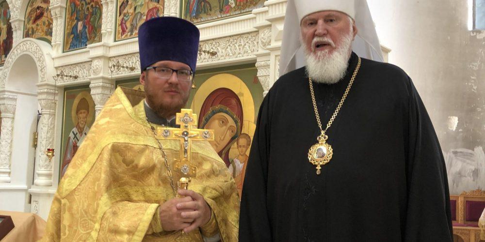 Митрополит Валентин (Мищук) совершил Божественную литургию в день 45-летия архиерейской хиротонии