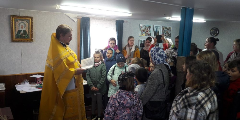 Начало занятий в воскресной школе при храме святых мучеников Анатолия и Протолеона в Марьине