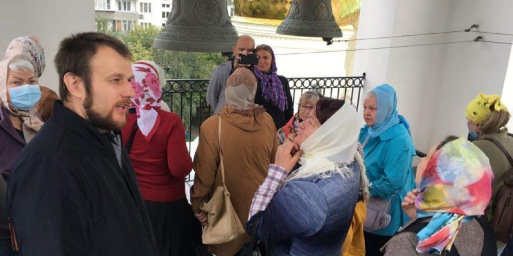 Читатели библиотеки № 113 в Текстильщиках посетили с экскурсией храм святого благоверного князя Андрея Боголюбского на Волжском