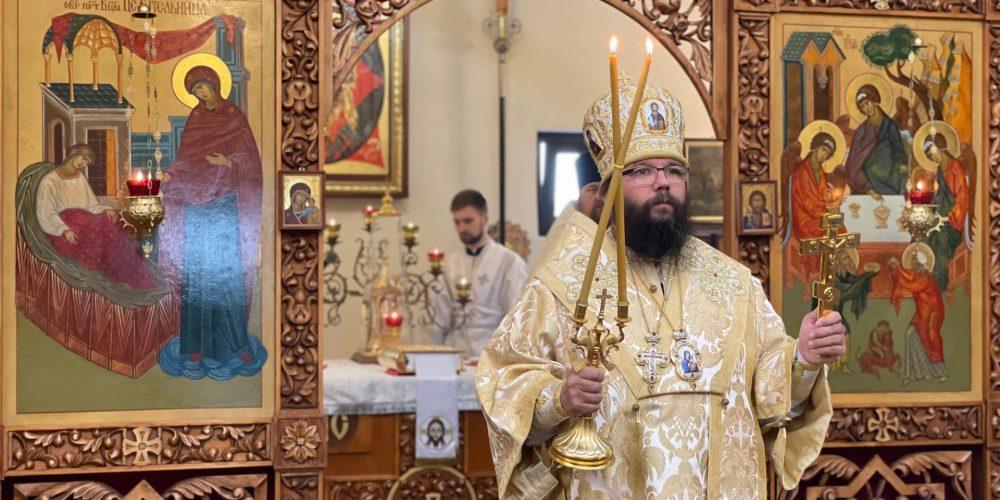 Архиепископ Егорьевский Матфей совершил Божественную литургию в храме святителя Луки Крымского в Марьине в день престольного праздника
