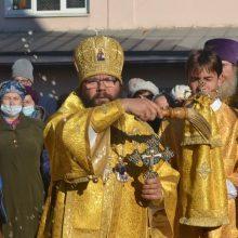 Архиепископ Егорьевский Матфей совершил Божественную литургию в день престольного праздника в храме святителя Тихона, Патриарха Московского, в Люблине