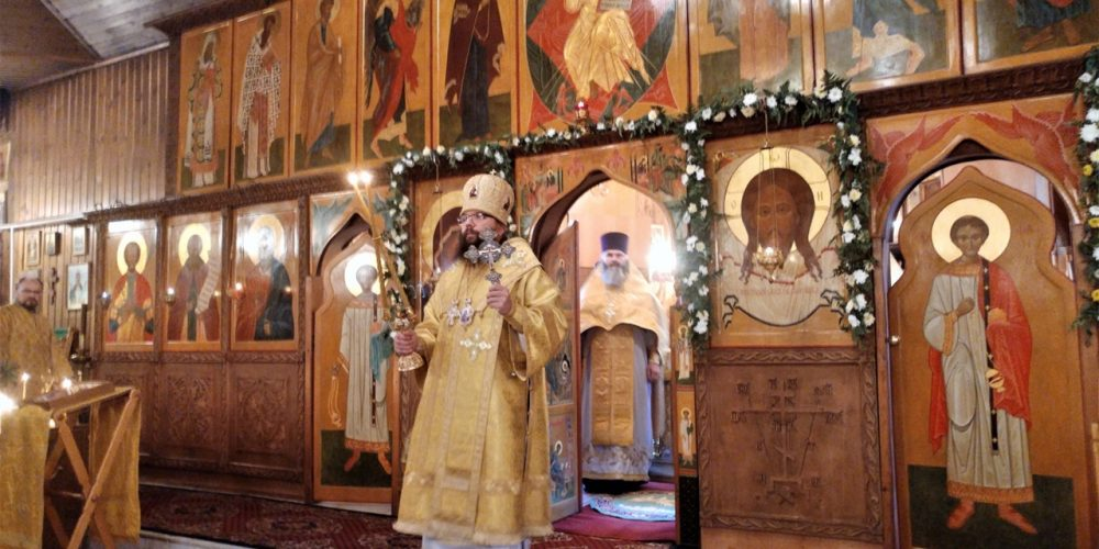 Архиепископ Егорьевский Матфей возглавил престольные торжества в храме святителя Тихона, Патриарха Московского, в Люблине