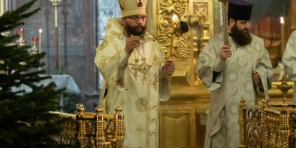 Архиепископ Егорьевский Матфей совершил всенощное бдение в канун праздника Богоявления Господня в Иверском соборе Николо-Перервинского монастыря