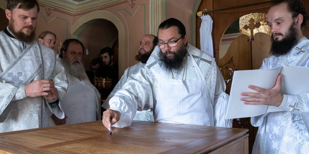 Архиепископ Егорьевский Матфей совершил великое освящение Толгского храма Николо-Перервинского монастыря