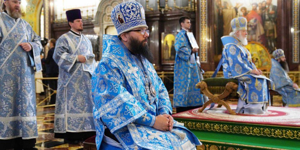 Архиепископ Егорьевский Матфей сослужил Святейшему Патриарху Кириллу за Божественной литургией в праздник Рождества Пресвятой Богородицы