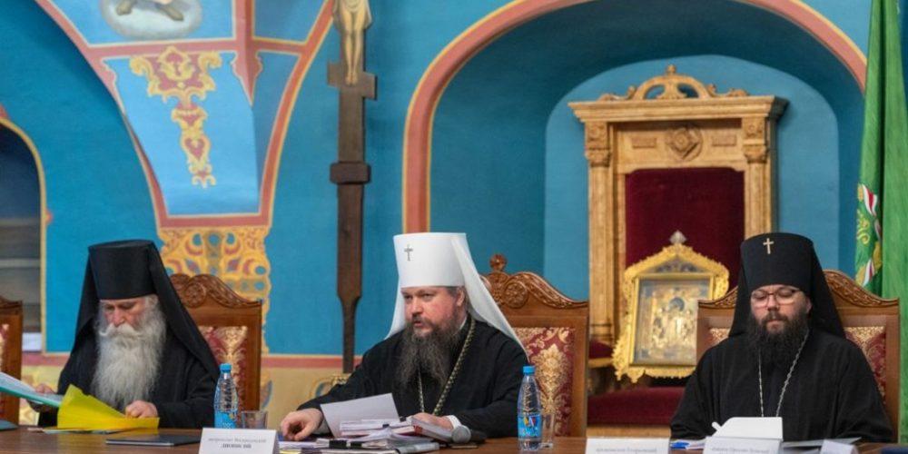 Архиепископ Егорьевский Матфей принял участие в заседании Епархиального совета